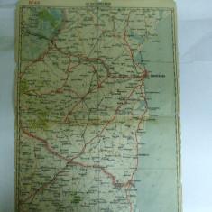 Harta Constanta color 47 x 31 cm perioada interbelica - Harta Romaniei