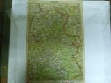 Harta Oradea color 47 x 31 cm perioada interbelica