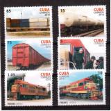 CUBA 2010, Transport feroviar, serie neuzata, MNH