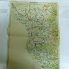 Harta Oravita color 47 x 31 cm perioada interbelica - Harta Romaniei