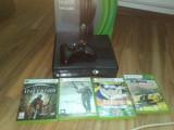 Vand xbox 360 + 4 jocuri, Microsoft