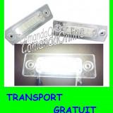 SET LAMPI SPECIALE CADDY, GOLF PLUS, JETTA, PASSAT, TOURAN - LAMPA PLACUTA NUMAR INMATRICULARE - 18 LED LEDURI SMD - CULOARE ALB XENON 6000 - Led auto, Volkswagen, JETTA II (19E, 1G2, 165) - [1983 - 1992]
