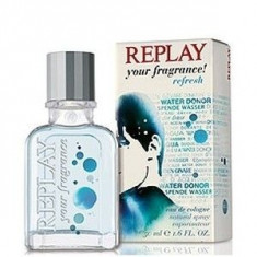 Replay Your Fragrance! Refresh Eau De Cologne 50 ml pentru barbati - Parfum barbati Replay, Apa de colonie