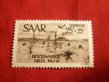 Serie-Pt.Victimele Inundatiilor 1948 SAAR ocup.fr. ,1val., Europa