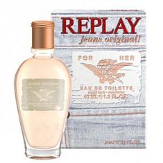 Replay Jeans Original! For Her EDT 40 ml pentru femei - Parfum femeie Replay, Apa de toaleta