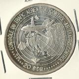 MONEDA DE ARGINT 925/1000 DE 20 DE ECU 1996 FRANTUZEASCA !!!, Europa