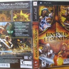 Untold Legends: Brotherhood of the Blade (PSP)  (ALVio) + sute de alte jocuri PSP ( VAND / SCHIMB )