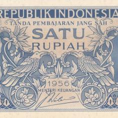 Bancnota Indonezia 1 Rupie 1956 - P74 UNC - bancnota asia