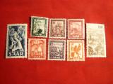 Serie Uzuale Industrie si Peisaje 1949-50 SAAR , 8 val. sarniera, Europa