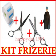 Set kit frizerie coafor FOARFECA TUNS FOARFECI FILAT PELERINA GULER BeautyUkCosmetics