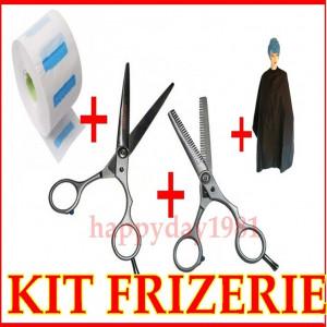 Set kit frizerie coafor FOARFECA TUNS  FOARFECI FILAT PELERINA GULER