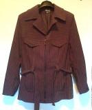 Jacheta Dama cu fermoar si cordon Roxy Style Collection, Maro