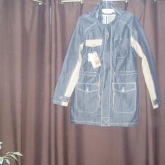 Jacketa Blue Jeans barbateasca BERSHKA - Geaca barbati Bershka, Marime: L, Culoare: Bleumarin, Bumbac
