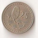 Moneda 25 mils 1968 - Cipru, Europa
