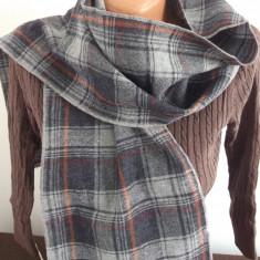 FULAR lana gri carouri - Fular Dama
