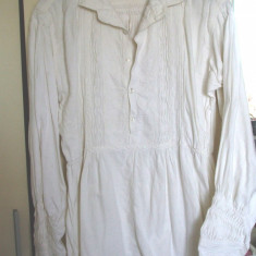 Camasa populara barbateasca (2) - Costum populare, Marime: 48, Culoare: Alb