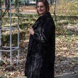 Palton Karakul Swakara - Palton dama, Marime: 38, Culoare: Negru