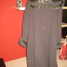 Palton dama de lux SELIN mar.L-XL, Culoare: Gri, Casmir