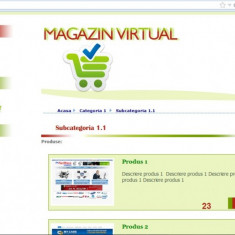 Site magazin online custom made in PHP si MySQL - Solutii business