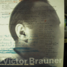 VICTOR BRAUNER Note si corespondenta  NOTES et CORRESPONDENCES 1938-1948 ( lb franceza)