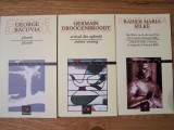 3 CARTI POEZIE, BILINGVE: G.BACOVIA  / G. DROOGENBROODT / R.M. RILKE, Alta editura