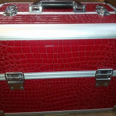 Geanta cosmetica, beauty case, geanta manichiura / farduri profesionale - Geanta cosmetice