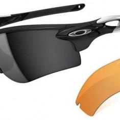 Oakley radarlock path polished black lens black iridium persimmon - Ochelari de soare Oakley, Barbati, Negru, Curbati, Plastic, Protectie UV 100%