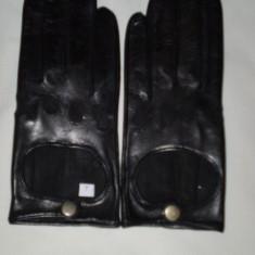 Manusi de piele pt condus - Manusi Barbati, Marime: S, M, L, Culoare: Negru
