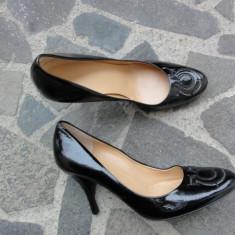 Noi! Pantofi superbi Salvatore FERRAGAMO originali, marimea 37 / 6.5C - Pantof dama Salvatore Ferragamo, Culoare: Negru, Cu toc