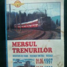 Mersul trenurilor 1997-1998 - Carti Transporturi