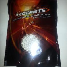 Bile airsoft (ROCKETS) 0.25 g, o punga 1 kg, 4000 bile