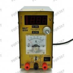 Sursa de laborator, cu tensiune si curent reglabil: 0-15 V, 1A, PS1051S - 111058