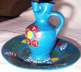 SET de ULCIOR SI FARFURIE, ceramica  pictata manual,