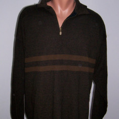 Bluza barbati lana Lorenzo marime XL Italy, Culoare: Maro