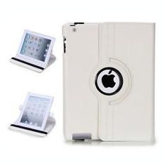 HUSA IPAD 2, 3 - HUSA PIELE ALBA + folie protectie ecran + expediere gratuita - Husa Tableta Apple