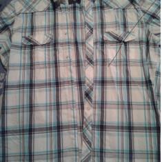 H&M, camasa marime XL - Camasa barbati H&m, Culoare: Albastru, Maneca scurta