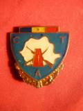 Insigna Militara Navala CTA ,metal si email ,h= 2,5 cm