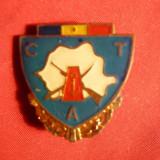 Insigna Militara Navala CTA, metal si email, h= 2, 5 cm