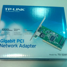TP-LINK PLACA RETEA PCI 10/100/1000 GB GIGABIT TG-3269 - Placa de retea Tp-link, Intern