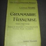 LEOPOLD SUDRE - GRAMMAIRE FRANCAISE {1907}