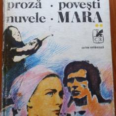 PROZA. POVESTI. NUVELE. MARA - Ioan Slavici - Nuvela