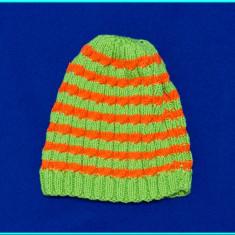 NOUA _ Caciula / caciulita din bumbac, HANDMADE _ baieti | 1 - 3 ani | 50 cm - Caciula Copii, Culoare: Verde, Marime: Alta