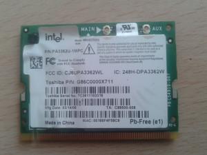 Wireless laptop P/N: PA3362U-1MPC Intel WM3B2200BG, Toshiba G86C0000X711