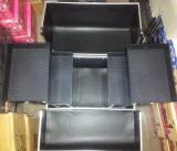 Geanta cosmetica Beauty Case din aluminiu, geanta de make-up argintie