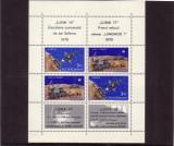 Romania L756a Luna 16-Luna 17 bloc de 4 dantelat  1971