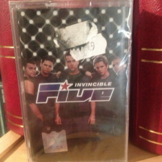 FIVE - INVINCIBLE (1999/BMG ARIOLA/GERMANY) -caseta originala/nou/sigilat - Muzica Pop rca records, Casete audio