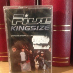 FIVE - KINGSIZE(2001/BMG ARIOLA REC/GERMANY) - caseta originala/nou/sigilat - Muzica Pop rca records, Casete audio