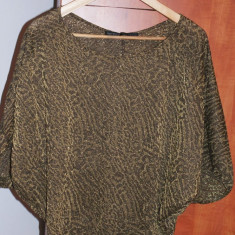 Bluza ZARA animal print, S/M, Maneca 3/4, Club