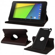 Husa rotativa 360 Asus Google Nexus 7 2013 Gen 2 + adaptor OTG + folie + stylus - Husa Tableta Asus, 7 inch