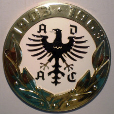 5.383 PLACHETA AUTO GERMANIA ADAC CLUB AUTOMOBILISTIC 1903 1963 91mm, Europa